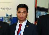 Mr. Nyi Nyi Htwe, the Regional Sales Manager of (Southeast Asia) OPRA Turbines